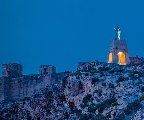 Cerro de San Cristóbal y Muralla de Jairán en Almería