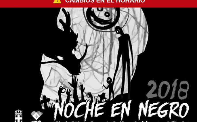 Cambios programación Noche en Negro Almería